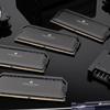 Productfoto van meerdere Corsair-componenten, met primair de nieuwe Dominator DDR5-geheugenmodules in beeld.