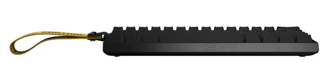Vooraanzicht van het Wooting 60HE-toetsenbord.