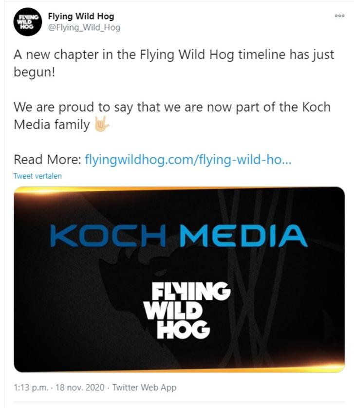 Tweet Flying Wild Hog