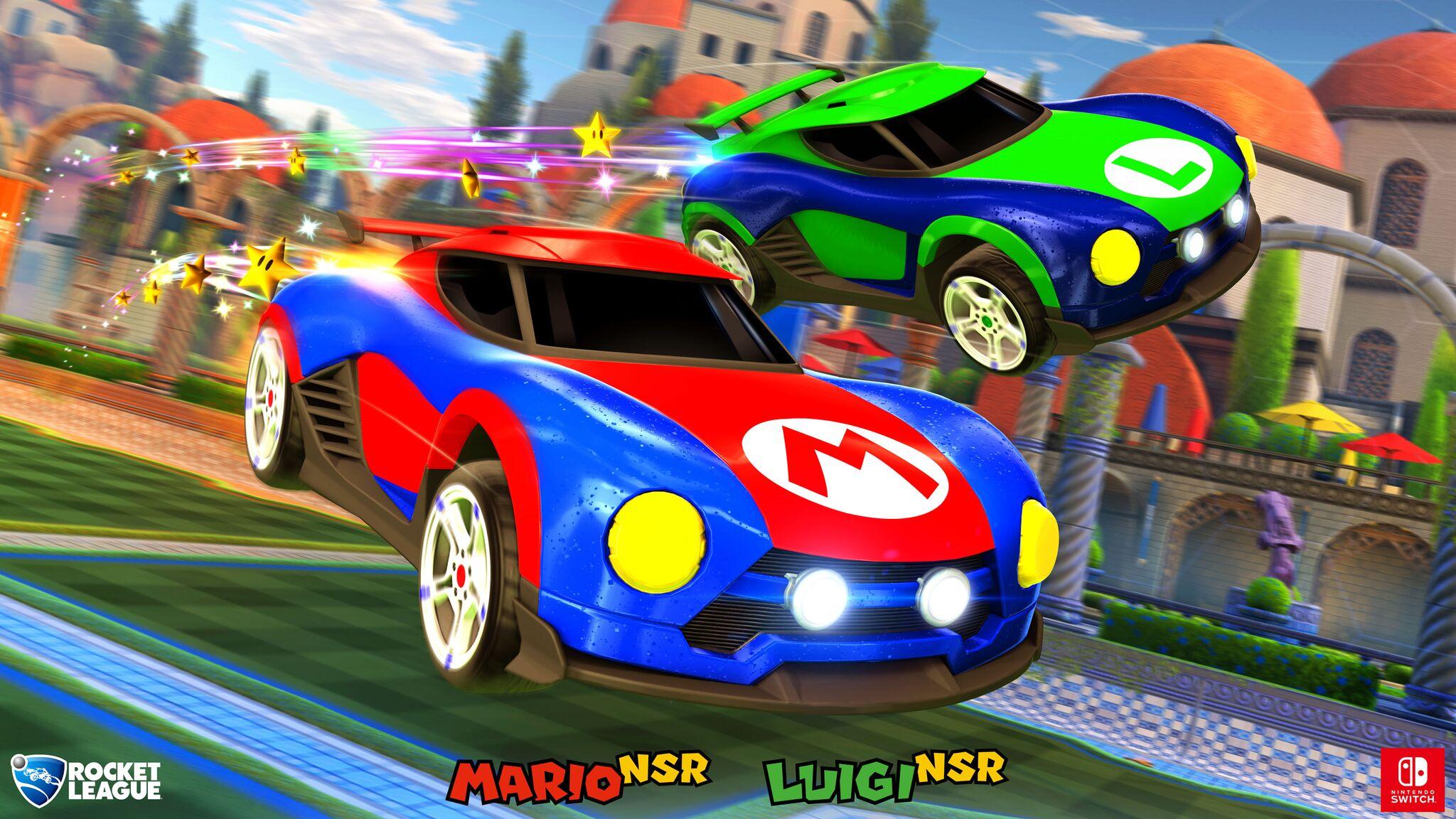 Mario en Luigi wagen