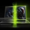 Tweezijdige afbeelding van een NVIDIA-laptop, welke aantoont hoe gamelaptops tegenwoordig steeds dunner en strakker kunnen worden.
