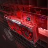 Promotionele render rondom de Radeon RX 6000-generatie videokaarten van van AMD.