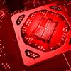 Promotionele afbeelding van een budget-gpu van AMD, gebouwd op de Navi-architectuur.