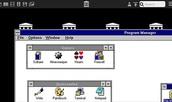 Retro-uitvoering van Windows op een smartphone in actie