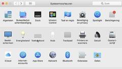 Spraakherkenning vind je in MacOS bij de toetsenbordinstellingen