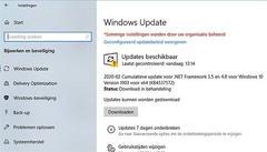 Windows updates gaan lang niet altijd goed