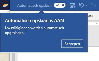 Automatisch opslaan
