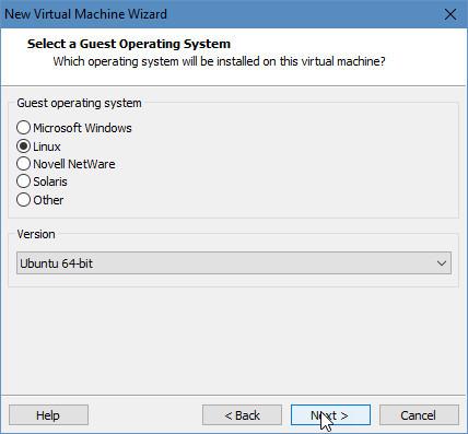Kies hier voor de correcte versie van je te in VMWare te installeren OS