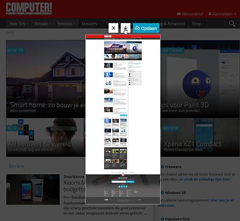 Leg een volledige webpagina als screenshot vast met Firefox