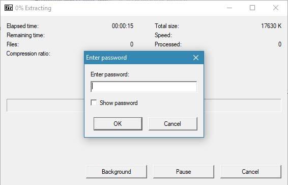 Een zelfuitpakkend (sfx) .exe-bestand maakt dat de ontvanger 7-Zip niet hoeft te installeren
