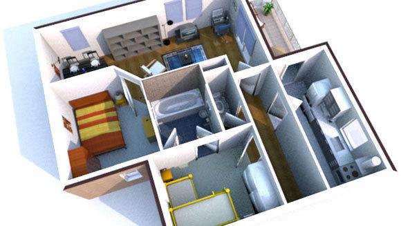 design een 3d interieur
