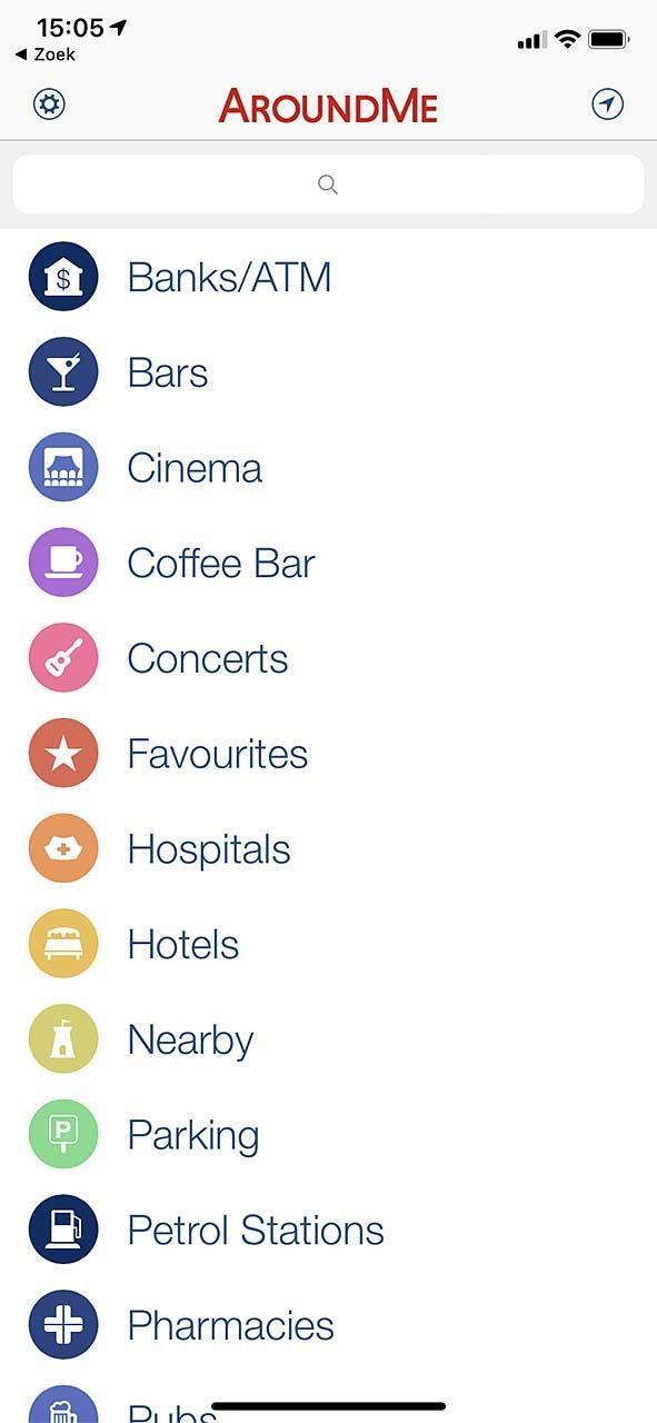 Met AroundMe heb je in Android en iOS snel een overzicht van je omgeving