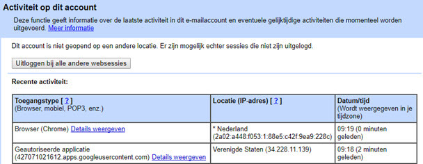 Gmail uitloggen