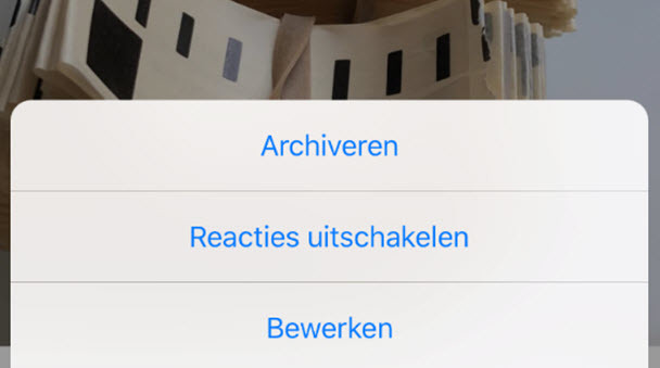 Instagram-posts archiveren