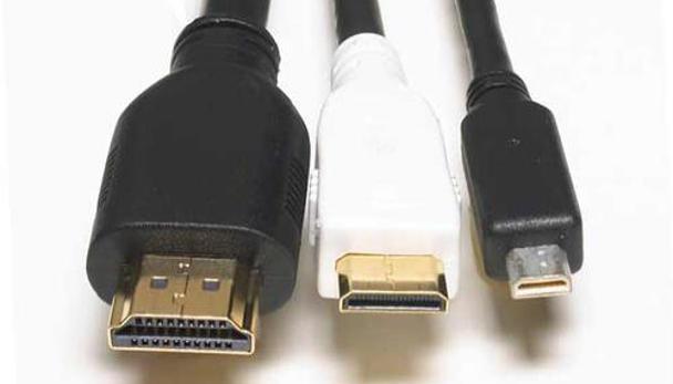 Afbeelding van de drie HDMI-aansluitingen