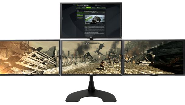 Afbeelding van vier beeldschermen