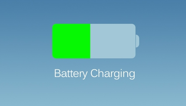 iOS 7 batterij opladen
