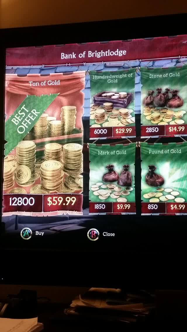 Fable Legends Microtransactions