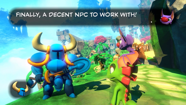Shovel Knight in Yooka Laylee