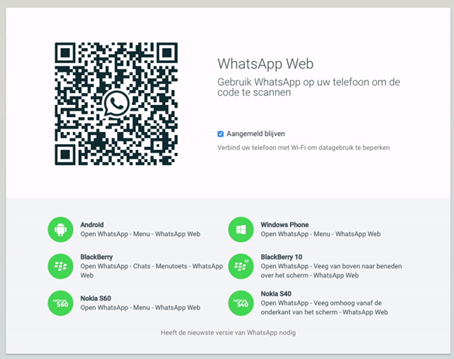 WhatsApp op je pc