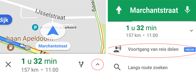 locatie delen in google maps