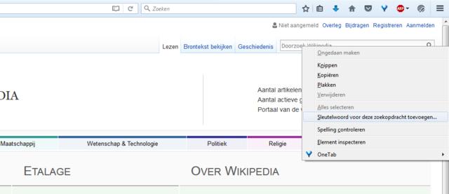 5 tips voor Firefox - Tip 03: Zoeken met Sleutelwoord