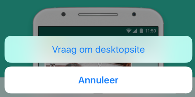 WhatsApp op je iPad
