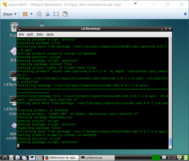 opsi-server installeren