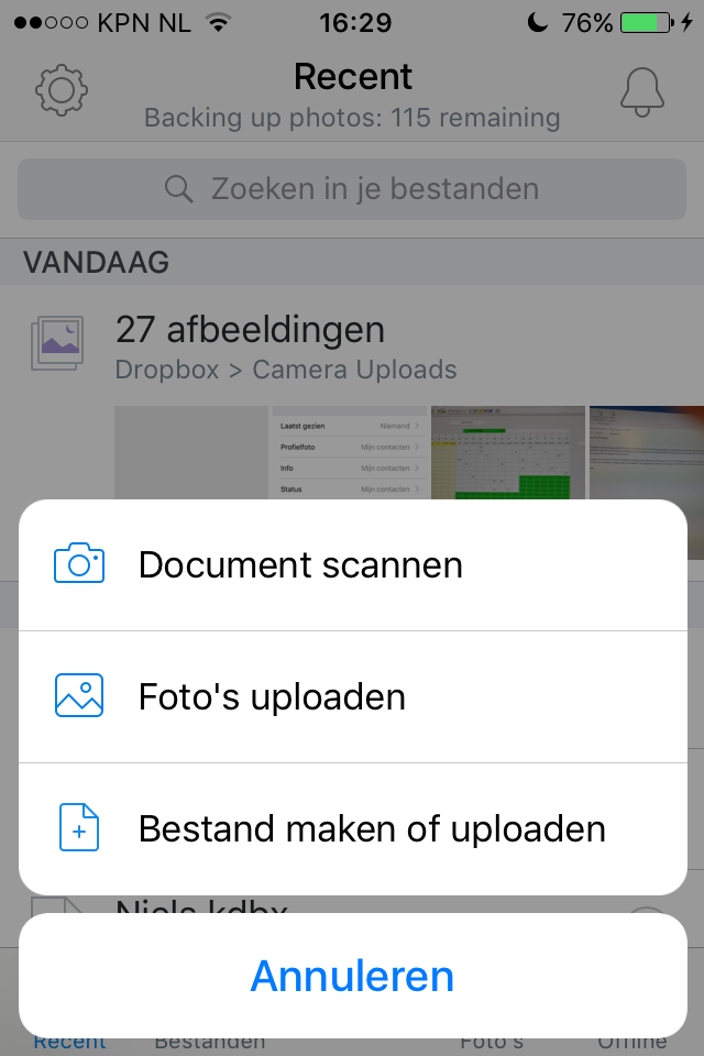 Back to school apps - Scannen met Dropbox