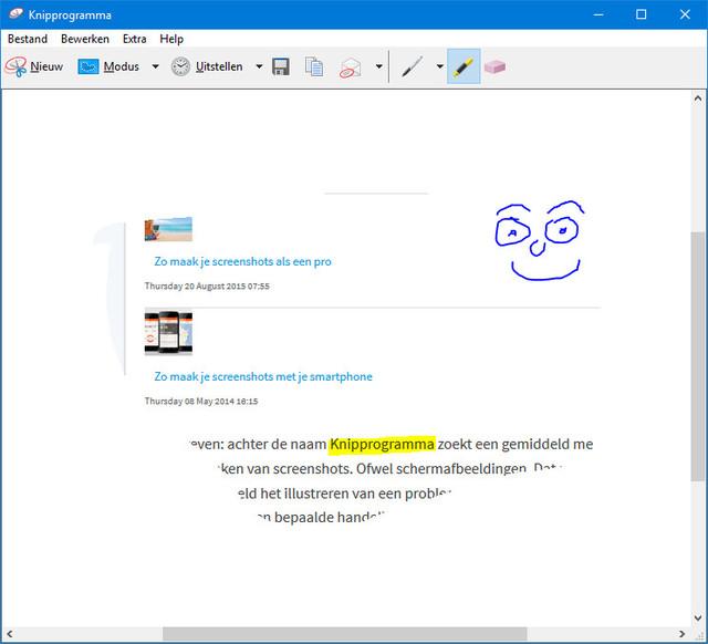 Voorzie screenshots van annoteringen