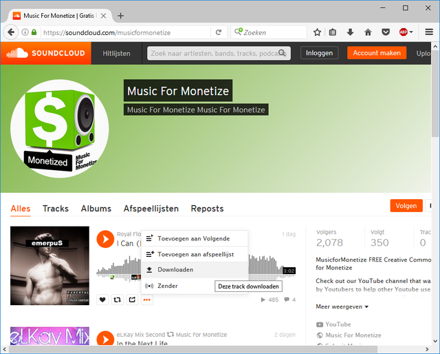 Soundcloud muziek downloaden