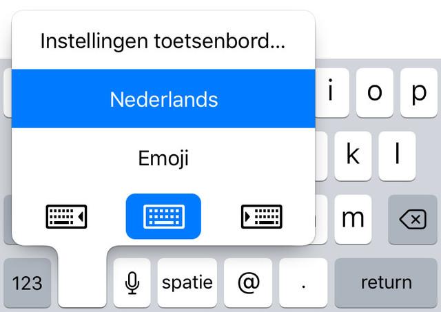 Kies voor een links- of rechtshandig duimvriendelijk toetsenbord in iOS 11