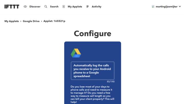 Configure