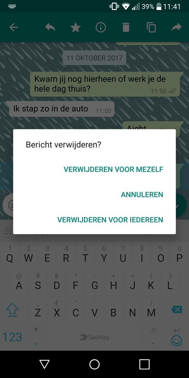 WhatsApp-berichten verwijderen