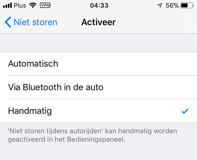 De Bluetooth-methode werkt het meest trefzeker bij je iPhone