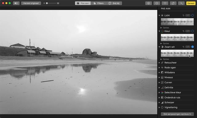 Converteer foto's naar zwart-wit in Foto's