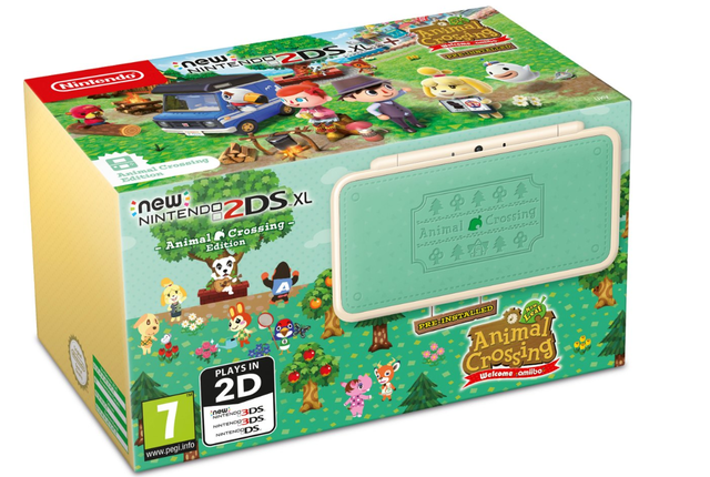 2DS XL Console Animal Crossing Edition
