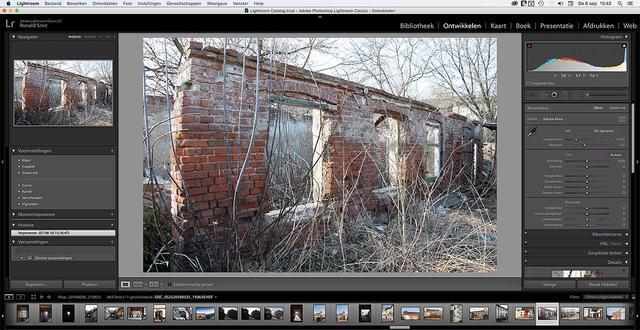De foto zoals deze uit de camera komt oogt weinig spannend qua kleur, helderheid en contrast