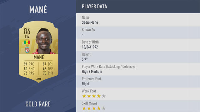 Mané Fifa 19