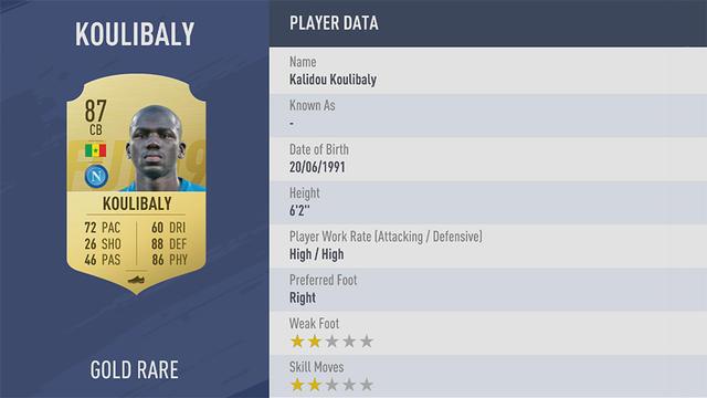 Koulibaly Fifa 19
