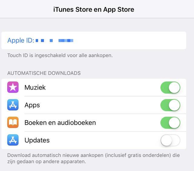 Neem zelf de controle over en et in iOS automatische app updates uit