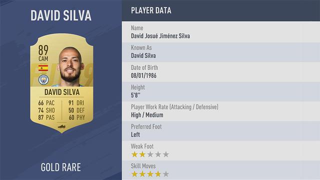 David Silva Fifa 19