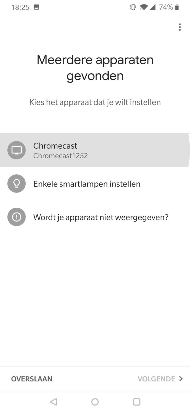 Google Chromecast screenshot