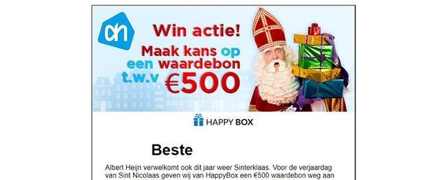 Sinterklaas phishingmail