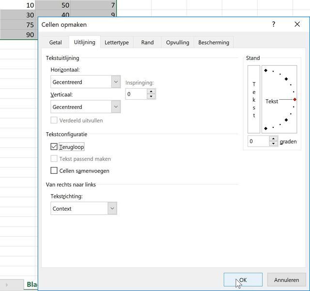 Uitlijnen van celinhoud in Excel komt de leesbaarheid ten goede