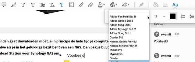 Voeg tekstopmerkingen toe in Adobe Reader DC