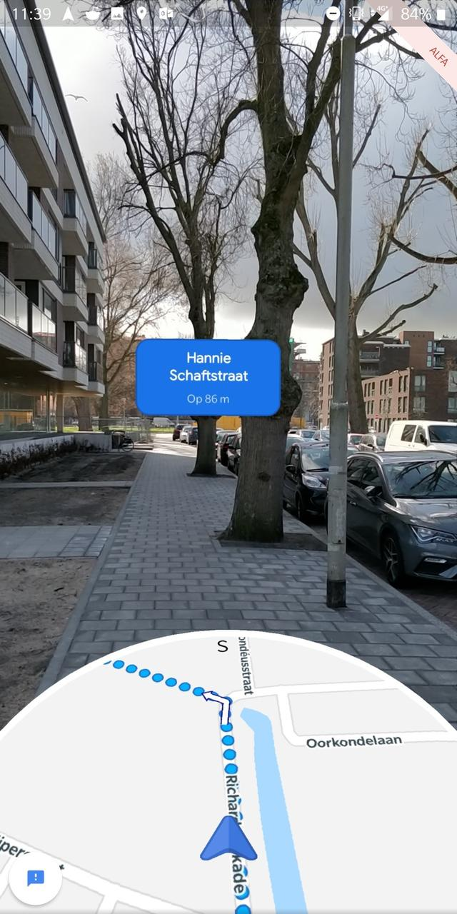 google maps ar route