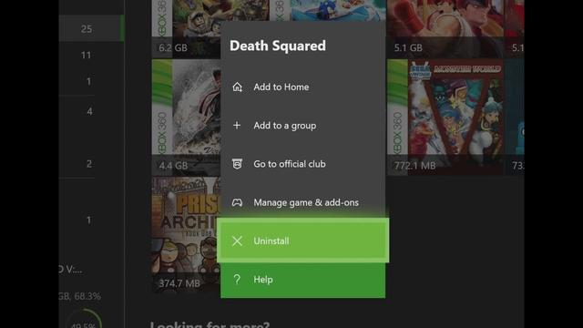 Uninstall Xbox One