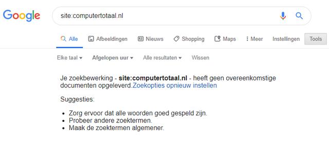 Google is stuk