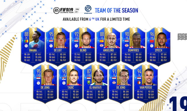 Eredivisie Team of the Season Fifa 19